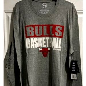 Chicago Bulls Men's Long Sleeve T-shirt New w tags